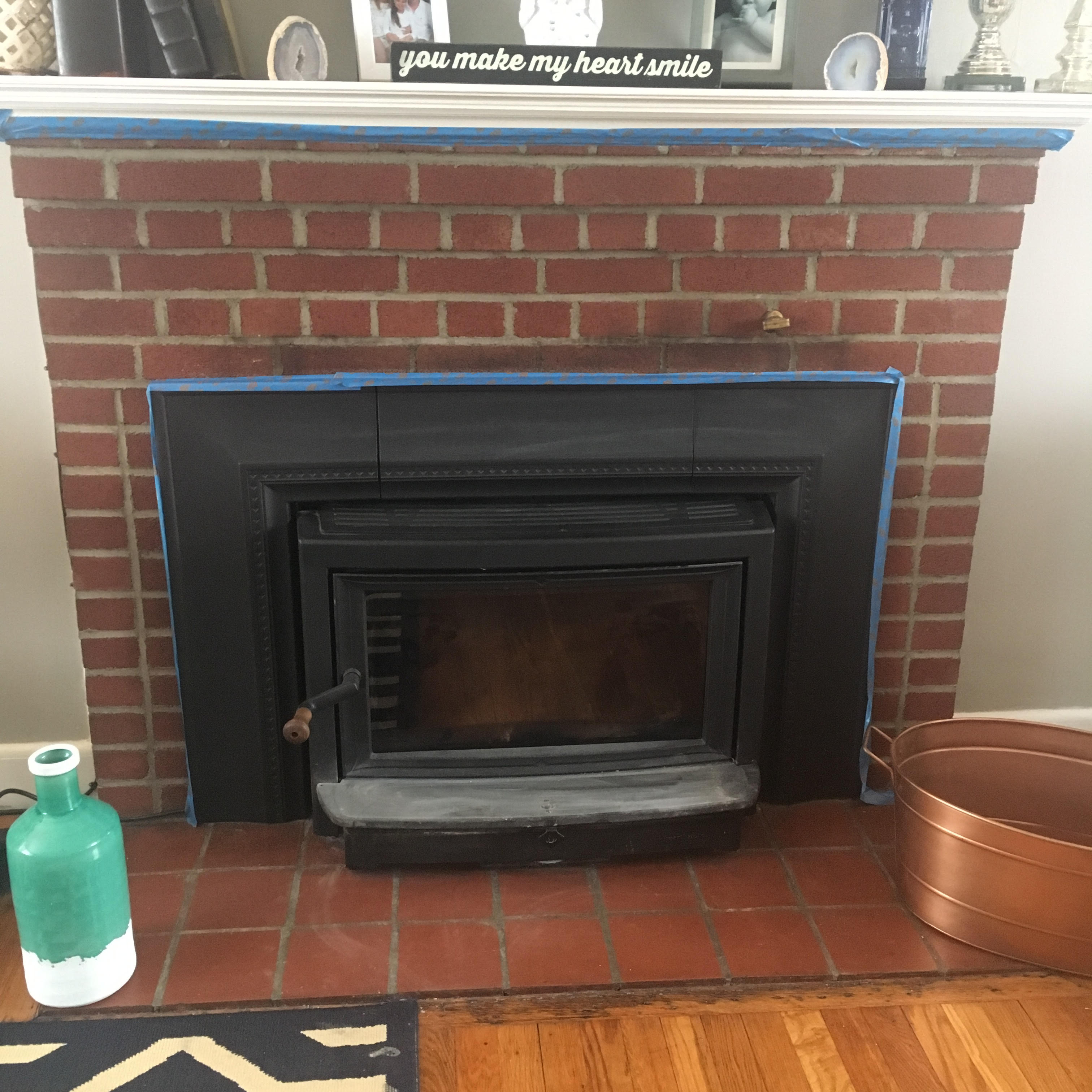 White wash your fireplace!
